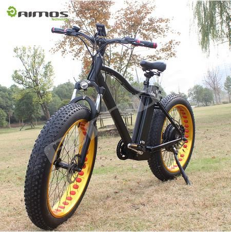 "26""*4.0 inch 48V 500W bafang motor fat tire mountain electric bike snow beach cruiser electric bicycle e fatbike"