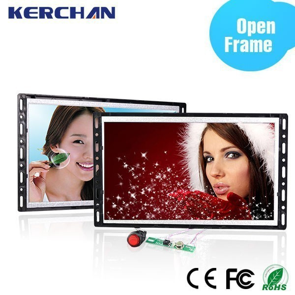 18.5 inch battery powered 1080p open frame lcd tft vga monitor price with H-D-M_I output