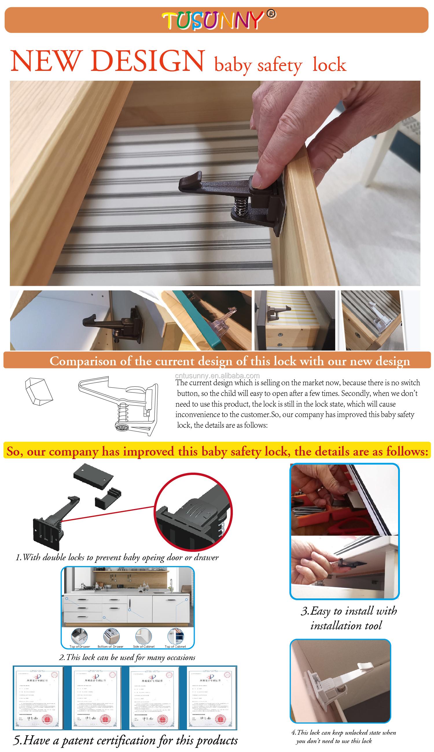 Versteckte magnetische lock baby proofing schlösser produkte schrank
