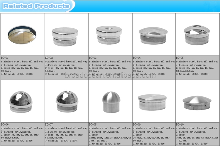 Stainless steel metal threaded tube end caps buy