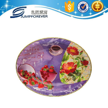 Oval Shape With Gold Rim Plastic Deep Dinner Plates - Buy Deep ...