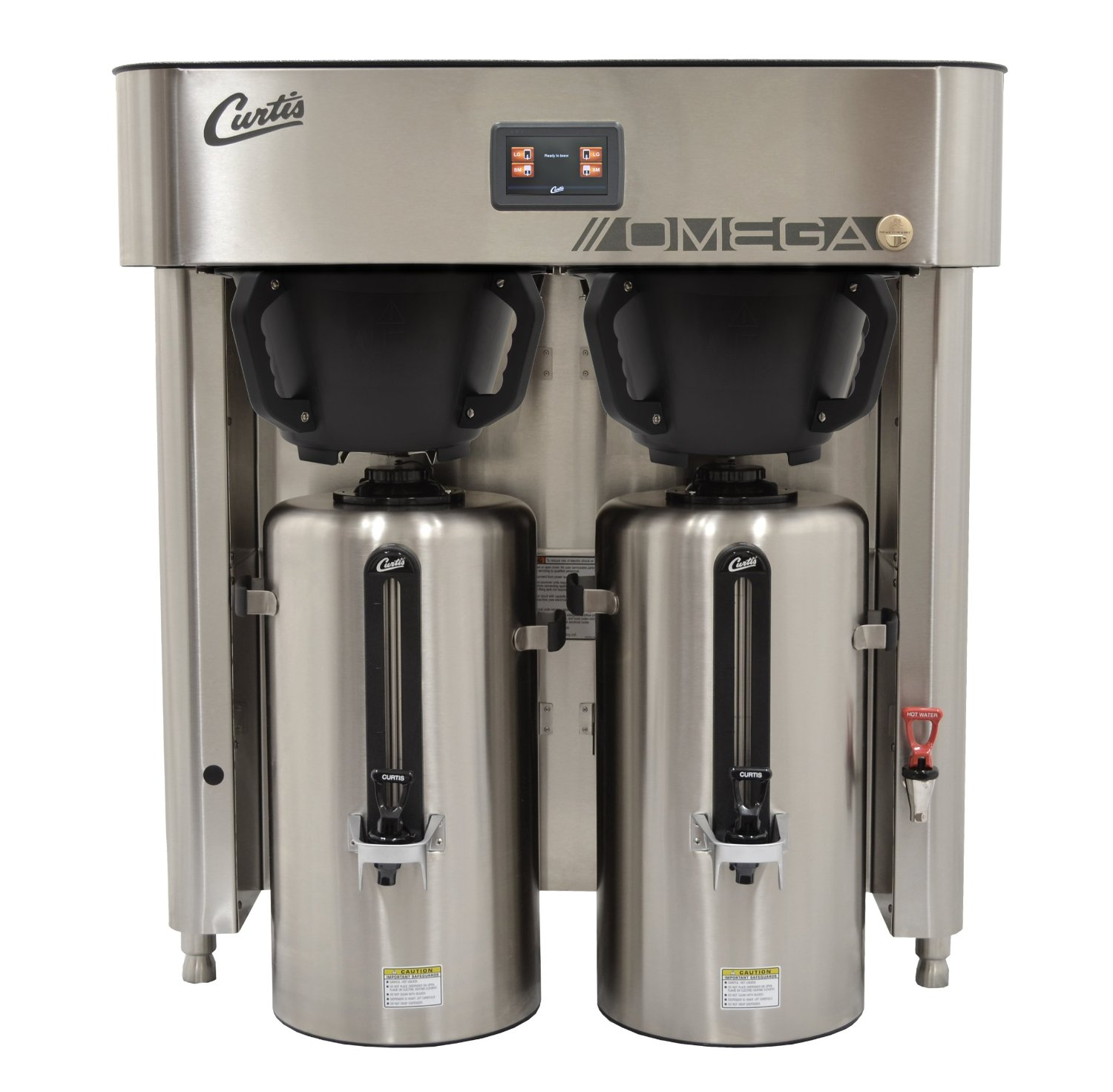 Wilbur Curtis G4 Omega Brewer 3.0 Gallon Twin Coffee Brewer, Standard 3Ph From Factory - Commercial High-Volume Coffee Brewer - OMGT (Each)