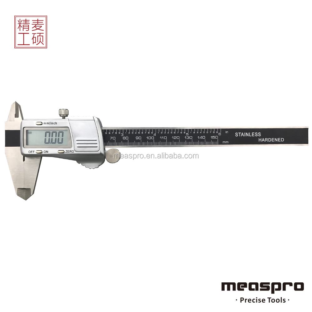 150mm Digital Caliper, Stainless Steel Electronic Vernier Caliper with Metal Casing