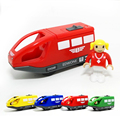 D554 Free shipping quality goods sell like hot cakes electric magnetic small locomotive driver wooden rail