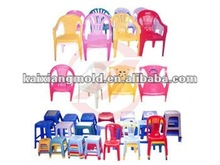 all types 2012 newly design household plastic chairs top part catoon on injection mould/mold