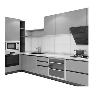 Modern Design Light Grey Matt Lacquer Kitchen Cabinet View Kitchen Cabinet Cbmmart Product Details From Cbmmart Limited On Alibaba Com