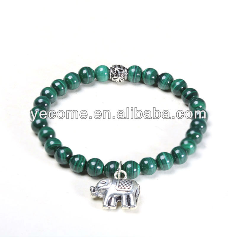 Wholesale natural gemstone malachite beads