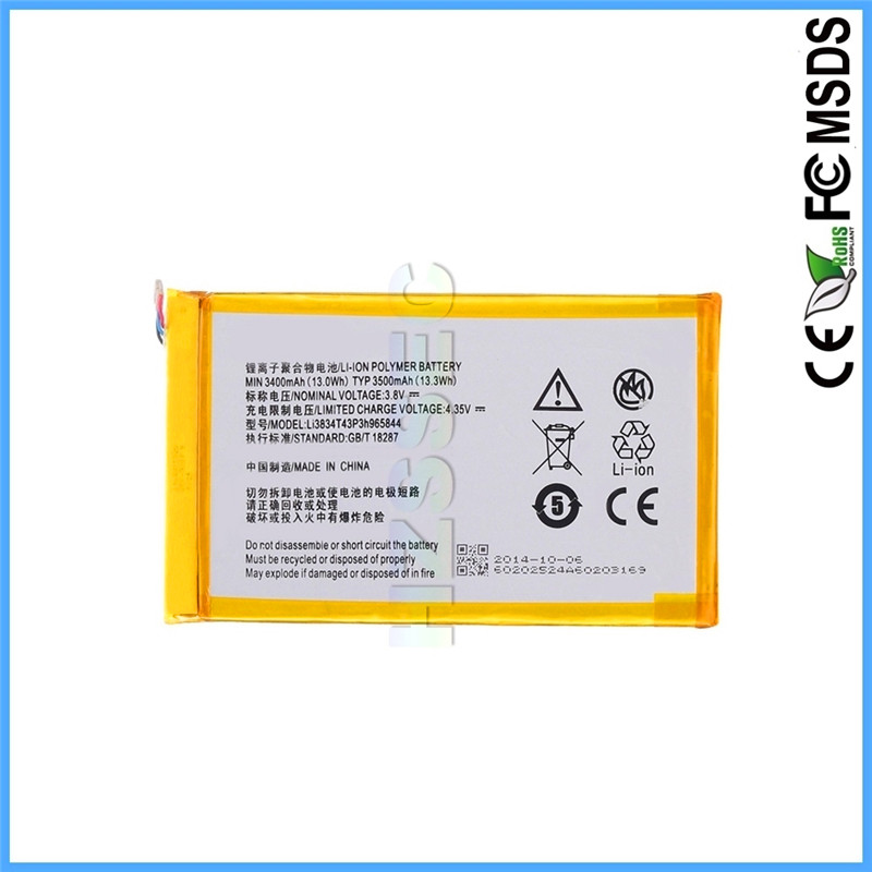 LI3834T4393H965844 Mobile Phone Dry OEM Li ion Rechargeable Battery For ZTE Nubia Z7 Minni NX507J