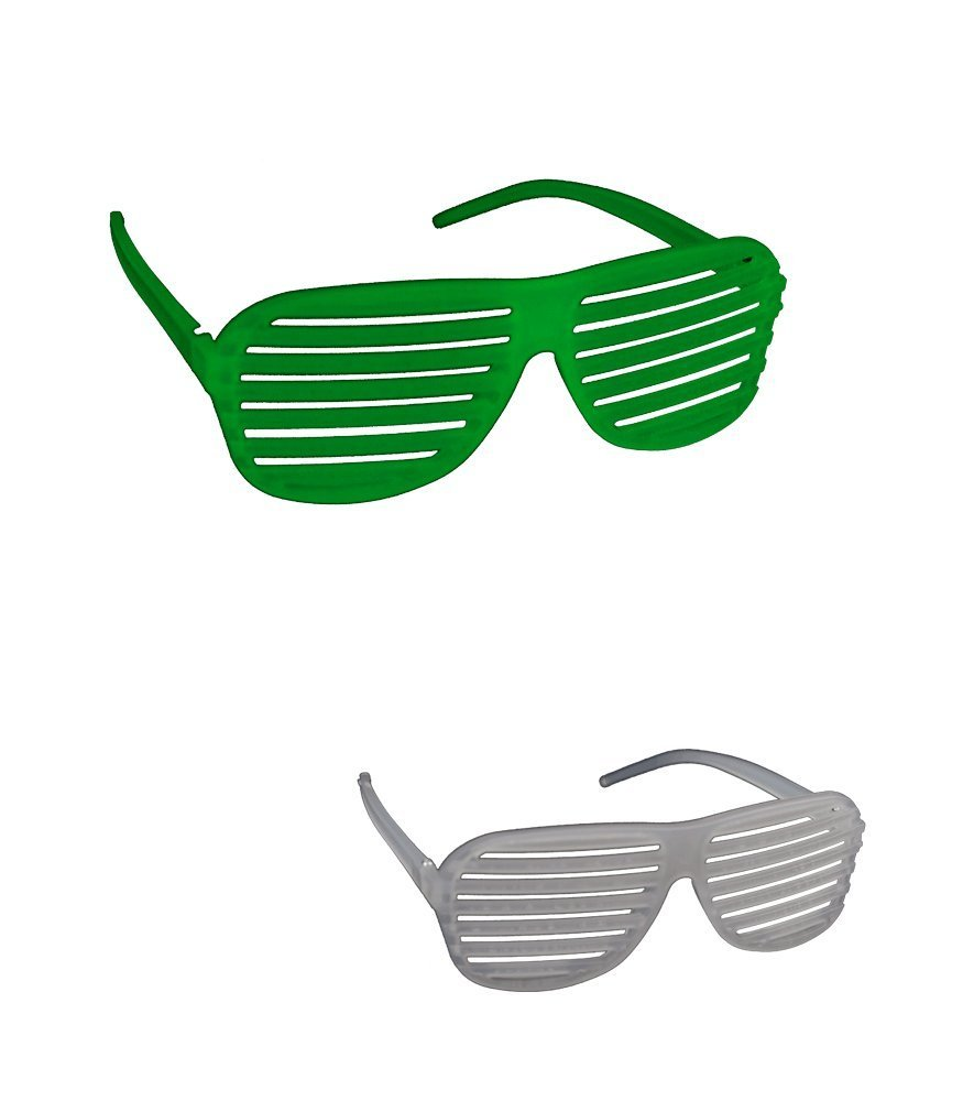c2d0a6cce1e7 Get Quotations · Glow in the Dark Shutter Shade Sunglasses
