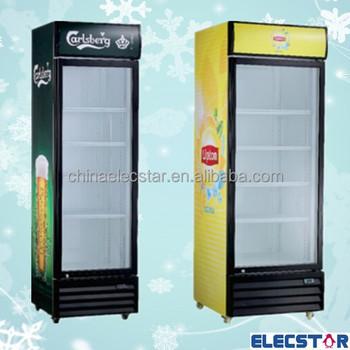 Refrigerator Glass Door Beverage Cooler Commercial Beverage Display