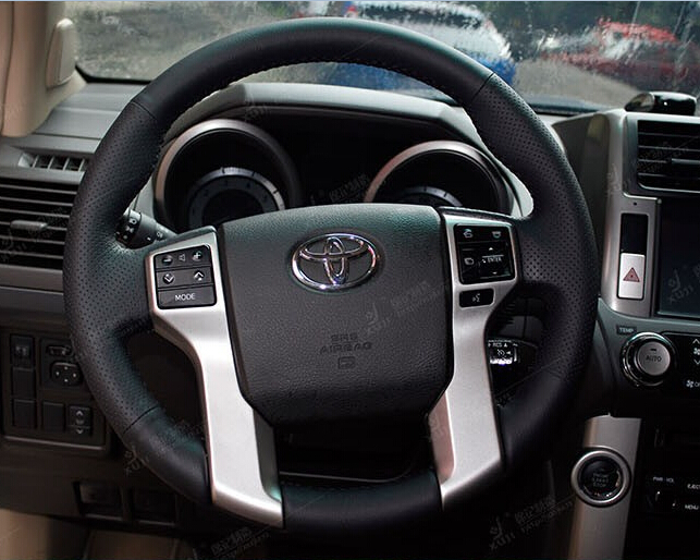 steering wheel cover for toyota land cruiser prado 2010 2012 2014 tundra tacoma car special hand. Black Bedroom Furniture Sets. Home Design Ideas