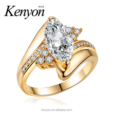 KENYON New arrivals 2018 brass cubic zirconia rings gold diamond wedding ring Fashion horse eye shape engagement ring R949