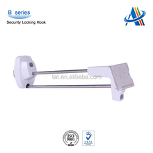 Visual merchandising and retai display solutions,retail slatwall security locking hook with price tag