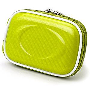 VanGoddy Semi Hard Slim EVA Carrying Case for Ivation IV-WPDC20 Waterproof Digital Camera (Candy Green)