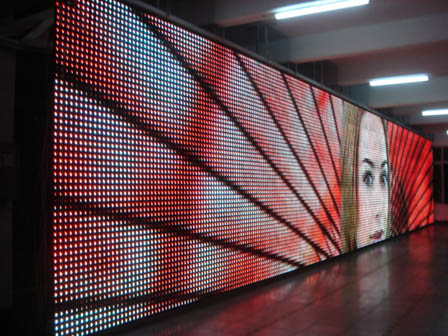 Sinosky Top quality led strip curtain screen IP65 soft display irregular shapes