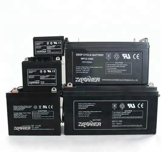 ZLPOWER 12V Hot Sale 4AH to 250AH AGM Sealed Free Maintenance Lead Acid Battery for UPS Inverter With OEM Service