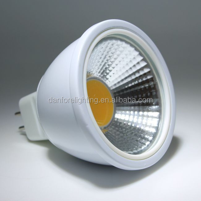 2015New 5W 12V AC/DC CE Rohs approved COB GU5.3 MR16 LED <strong>Spotlight</strong>