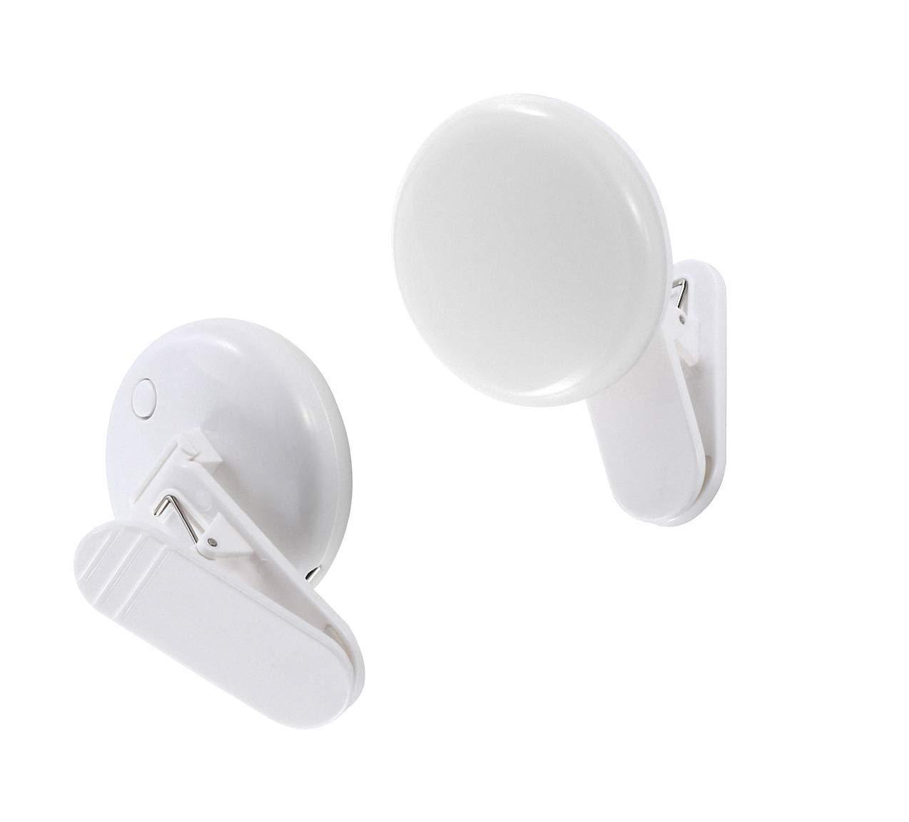 Selfie Ring Light, Rechargeable LED Fill-Light, Portable Clip-on Selfie Camera Light, 3-Level Adjustable Brightness