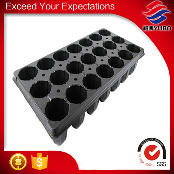 54*28cm More Holes Black Plastic Paint Pots
