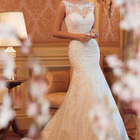 ZH0901G NEW style Long fashion Slim temperament bride weeding dress