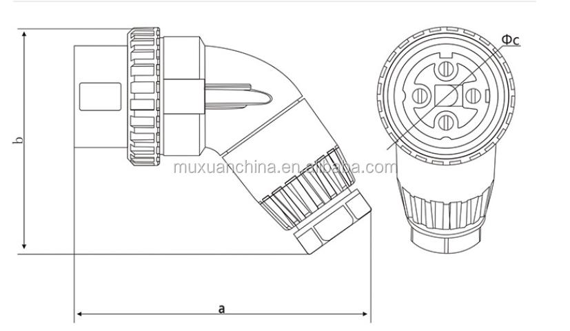 56pa420 Equipment Power Plug Three Phase Four Wire Waterproof