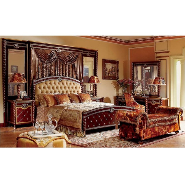 YB26 traditional antique mahogany super king size master solid wood bedroom  furniture Arabic bedroom set with - Buy Cheap China Arabic Woods Furniture Products, Find China Arabic