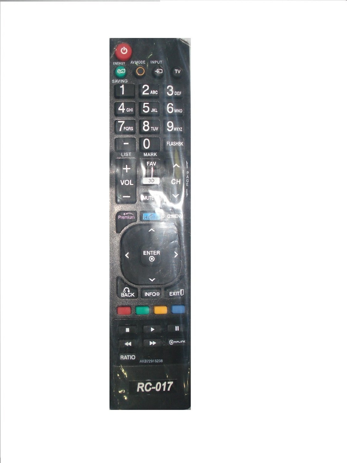 New LG Replaced Lost AKB72915238 3D TV Remote for LG 42LW5700 47LW5700 42LV3700 47LV3700 55LV3700 42LV5400 55LW5700 3D TV