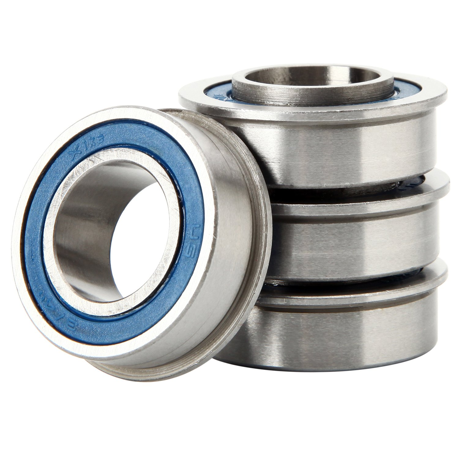 XiKe 4 Pack ID 3/4 x OD 1-3/8 Flanged Precise Ball Bearing, Lawn Mower, Wheelbarrows, Carts & Hand Trucks Wheel Hub for Suitable, Replace Marathon, MTD, JD and Toro and Snapper.