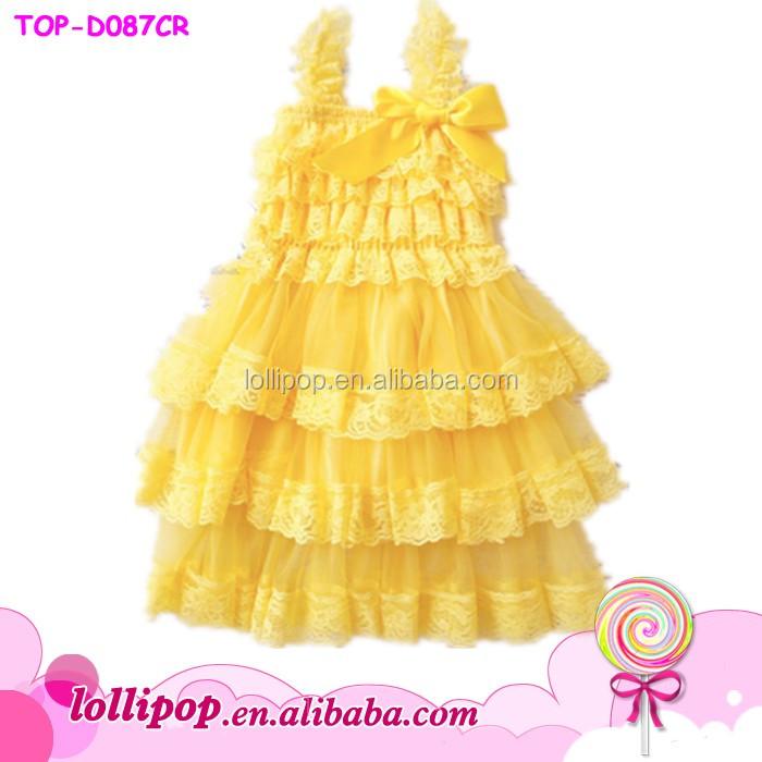 99c122e464c8 Wholesale Latest Fancy Petti Lace Ruffle 2 Year Old Girl Dress 2017 ...