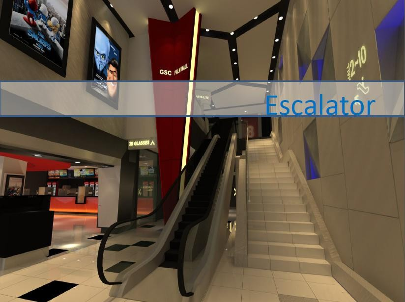 Stainless Steel Escalators : Stainless steel aluminum handrail escalator cheap