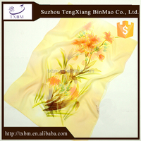 2018 fancy lady custom woven custom printing China classical square 100% silk scarf