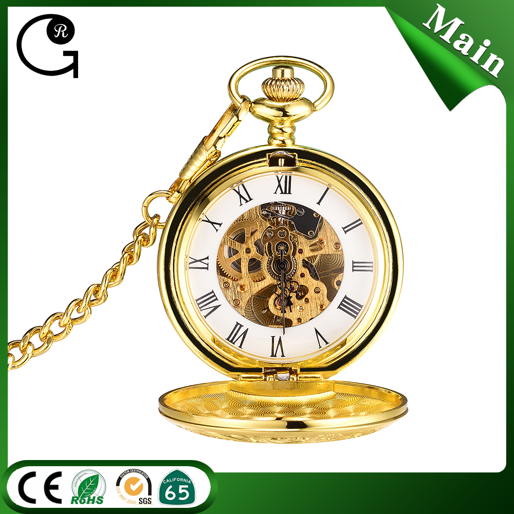 Christmas gift pocket watches Russian style mechanical pocket watches for man