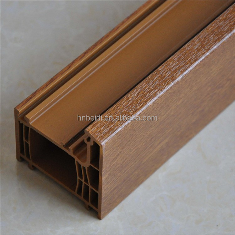Perfect sound insulation more chambers quality upvc casement window pvc profiles for tilt and turn window