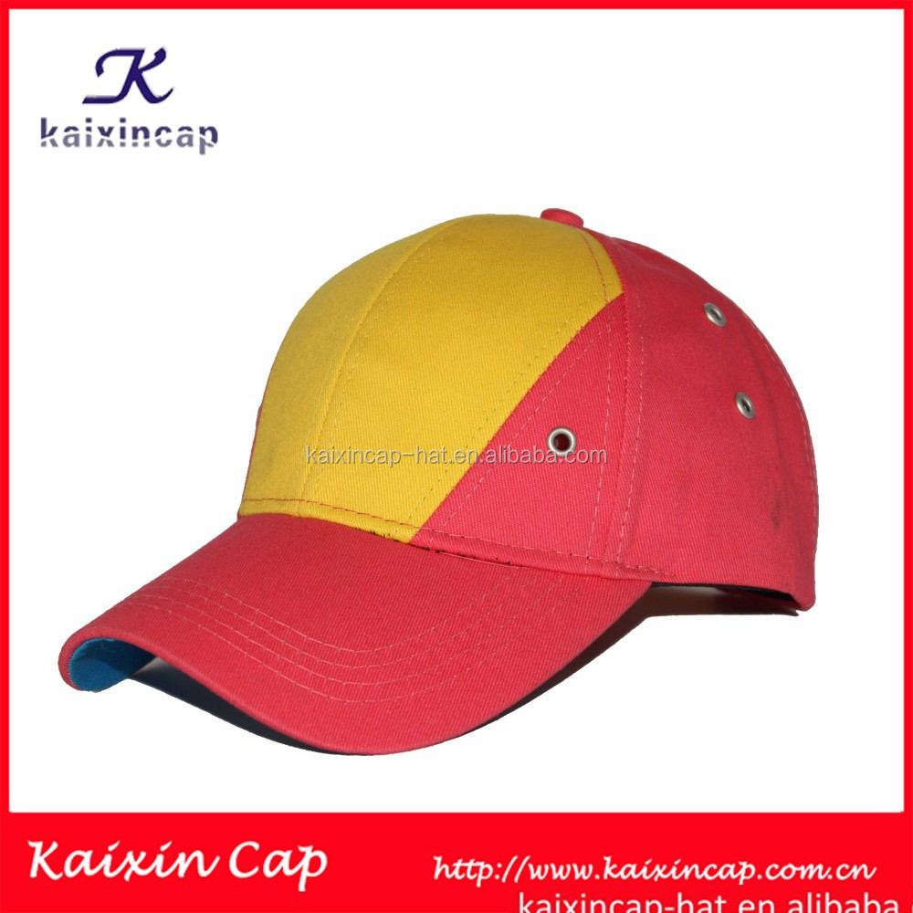 special design yellow and pink blank baseball caps