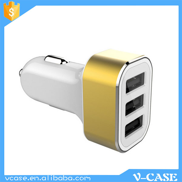 Sales Promotion !!! Mobile phone portable triple 2 / 3 port usb car charger dual car usb charger