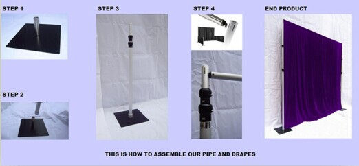 Nine Trust Aluminum Pipe And Drape Wedding Backdrops For Sale Portable