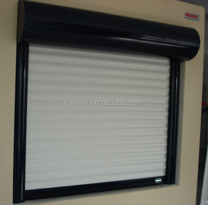 Window metal rolling shutter with motor