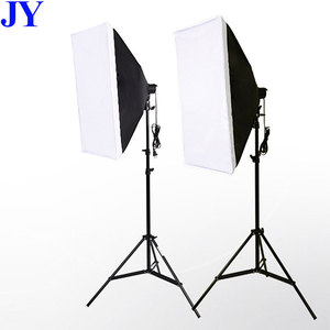 JingYing factory price photography 50x70cm photo studio softbox lighting kit with light stand