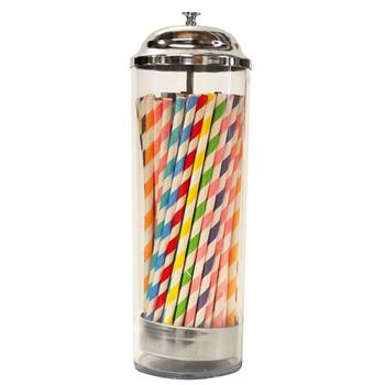 Durable Glass Paper Drinking  Straw Dispenser