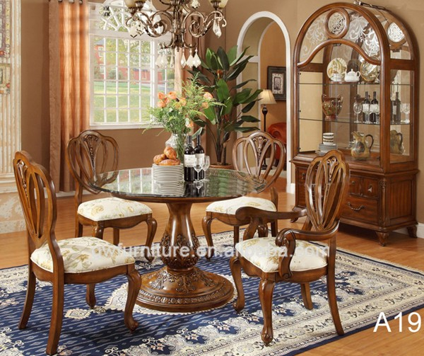 Royal Luxury Classical Wooden Dining Room Furniture Set