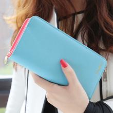 Moderná dámska peňaženka v rôznych pastelových farbách z Aliexpress
