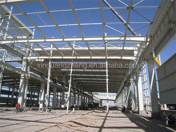 prefabricated construction design steel structure crane warehouse