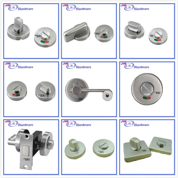Chins Supplier Sus304 Thumb Turn Door Lock With Indicator For Toilet