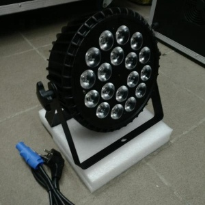Effect lighting 18 *18W RGBWAUV6 in 1 mute par light for wedding party stage DJ club disco