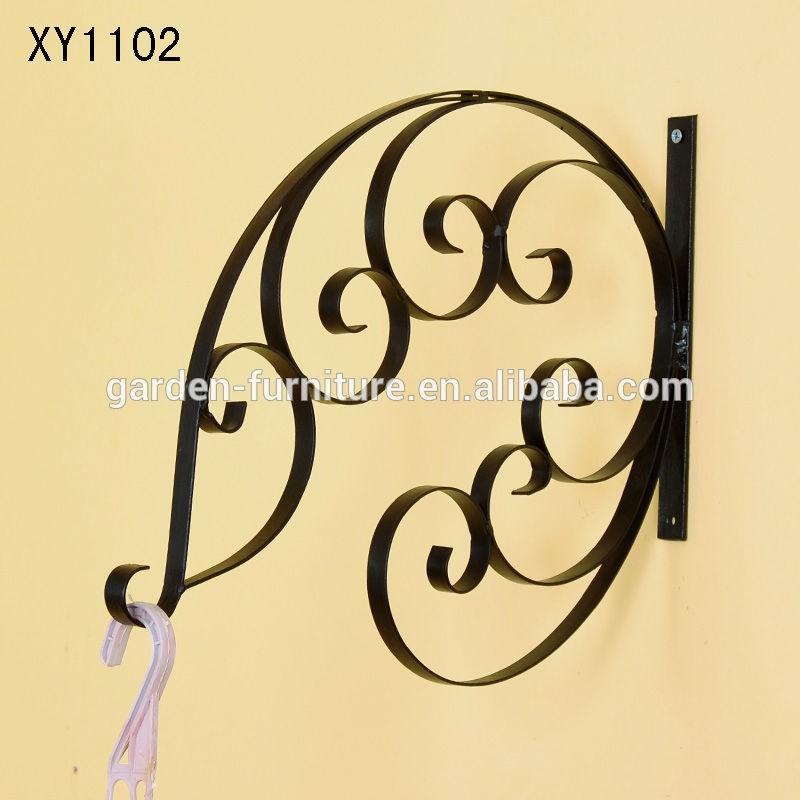 Xy1102 Garden Art Metal Hanging Plant Basket Brackets Hooks Scroll ...