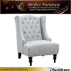 Button Tufts Upholstered modern high back wing chair