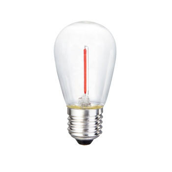 Chinlighting Wholesale 120V LED S14 Clear Glass Cover Warm white Green Blue Red Yellow Colored filament bulb