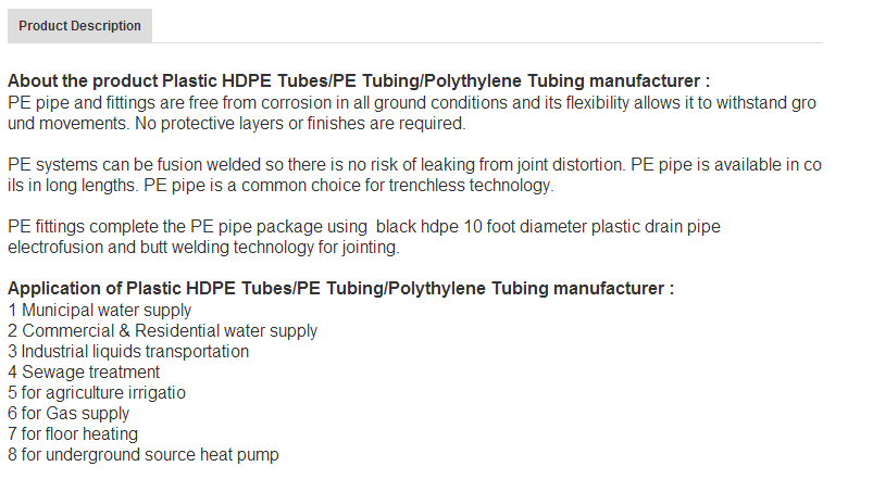 Low Good Price Corrugated Pe Material Plastic Drainage Pipe/tube ...
