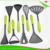 ZY-A1128 Reliable Quality 8pcs Green PP+TPR Handle Nylon Kitchen Cooking Tools Set