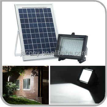 Super Bright 80/108 LED Aluminum Alloy Outdoor Solar Charged LED Flood Light for Street Park Yard Garden Patio (JL-4515)